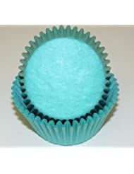Solid Color Teal Cupcake Liners Baking Cups Standard Size 50 Count