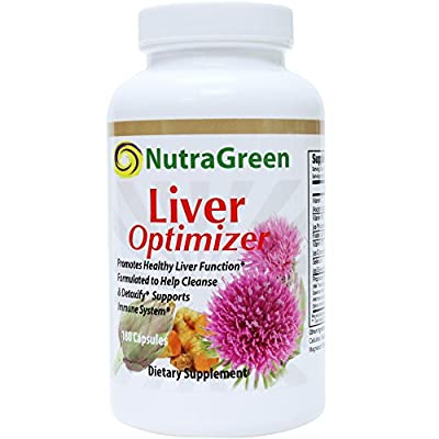 NutraGreen Liver Detox Cleanse Support Supplement 750mg Milk Thistle/Turmeric Root?Artichoke Leaf, Dandelion Root, Schisandra, Alpha Lipoic Acid, Vitamin C
