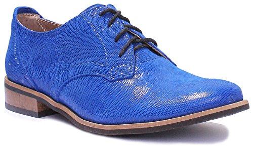 lacets pour ville Justin Reece 3010 femme Bleu à Chaussures de vwxABqaZ