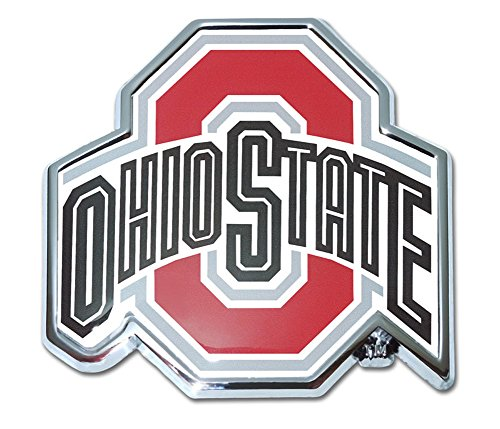 Ohio State University Buckeyes NCAA College Chrome Plated Premium Metal Car Truck Motorcycle Emblem