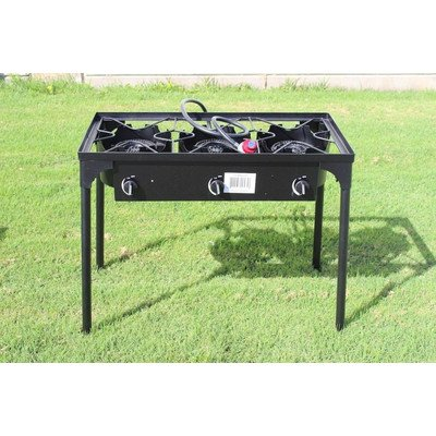 CONCORD Triple Burner Outdoor Stand Stove Cooker w/ Regulator Brewing -
