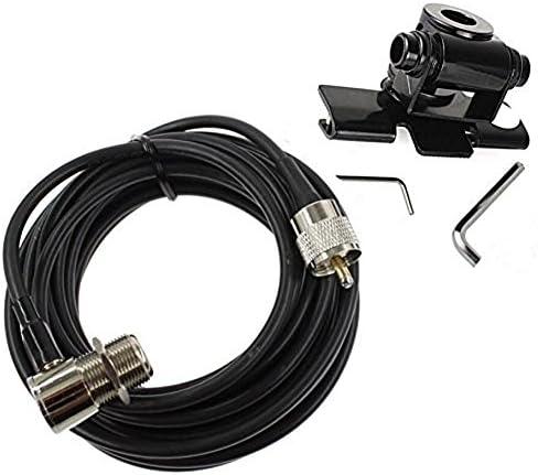 Cable adaptador Buwico para la antena del coche con soporte de acero inoxidable, para la puerta trasera para radios bidireccionales de vehículos, de 5 ...