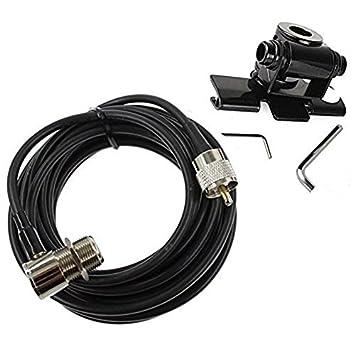 Cable adaptador Buwico para la antena del coche con soporte de acero inoxidable, para la