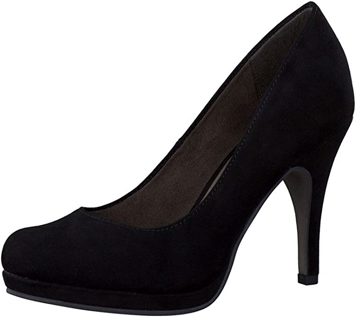 Tamaris Pumps with open toe high heel suede 1 22407 21 Black