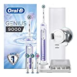 Oral-B Genius 9000 Sensi Ultrathin Electric Toothbrush Rechargeable, 1 Orchid Purple App Connected Handle, 6 Modes with Sensitive and Gum Care, Pressure Sensor, 4 Toothbrush Heads, USB Travel Case