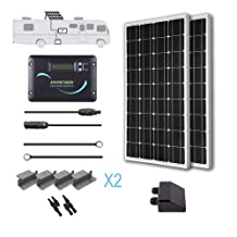 Renogy 200 Watts 12 Volts Monocrystalline Solar RV Kit with Adventurer