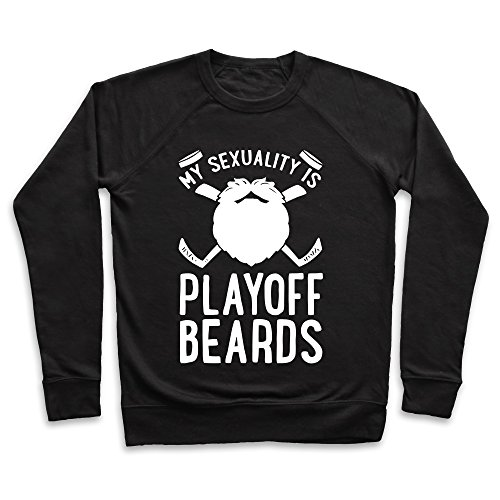 Black Playoff Beard (My Sexuality is Playoff Beards Black Small Unisex Lightweight Pullover Sweatshirt by LookHUMAN)