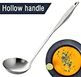 Spoon Soup Ladle - 18/8 Stainless steel - by Creative Lifestyles (12.3-in , Capacity 4-oz) ¡