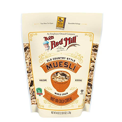 Bob's Red Mill (Resealable) Old Country Style Muesli Cereal, 40-ounce (Pack of 4)