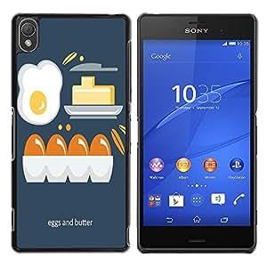 Dragon Case - FOR Sony Xperia Z3 - egg and butter - Caja protectora de pl??stico duro de la cubierta Dise?¡Ào Slim Fit