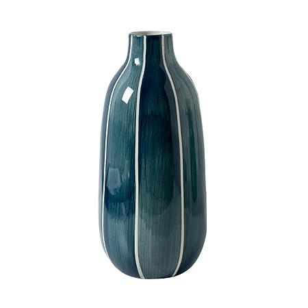 Jarrones de Ceramica Florero de cerámica Adornos Azules Horno de ...