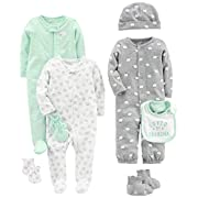 Simple Joys by Carter's Baby 8-Piece Footed Take Me Home Set, Gray, 3-6 Months