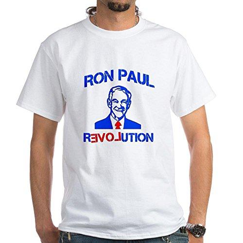 CafePress Ron Paul Revolution White T-Shirt - 100% Cotton T-Shirt, White (T-shirt Ron Revolution Paul)
