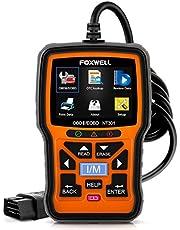 Code Reader, FOXWELL NT301 Car Obd2 Code Scanner Universal Check Engine Light Diagnostic Tool Automotive Fault Code Reader Obd II Eobd Scan Tool