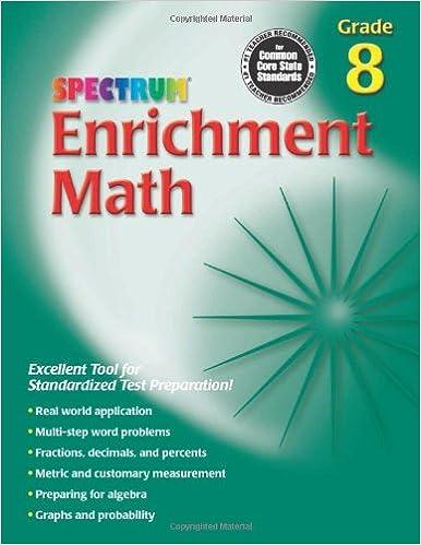 Télécharger gratuitement Enrichment Math, Grade 8 (Spectrum