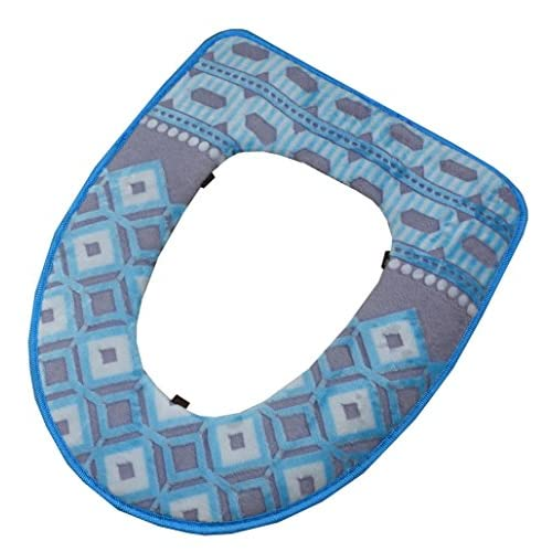 """16.9""""x14.5"""" Fashion Toilet Seat Cushion Warm Toilet Seat Cover Pads (Blue) 30%OFF"""