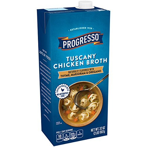 Progresso Gluten Free Fat Free Tuscany Chicken Broth 32 oz Aseptic Pk (pack of 12)