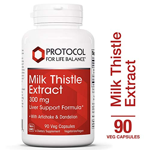 Protocol For Life Balance – Milk Thistle Extract – Vegetarian Formula for Liver Support Containing Artichoke Dandelion to Support Glutathione Production – 90 Veg Capsules