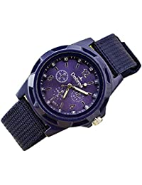 Watches, Mens Fashion Sport Braided Canvas Belt Watch Analog Wrist Watch