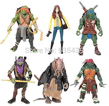 Amazon.com : Hot! NEW 6pcs/set 12cm TMNT Teenage Mutant ...