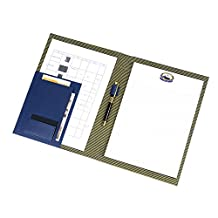 Piboshi Folder Padfolio ,Writing Portfolio Faux Leather Clipboard With Cover for Legal Pad Holder Letter Size A4 8.5 x 11 for Business Conference Notepad Blue
