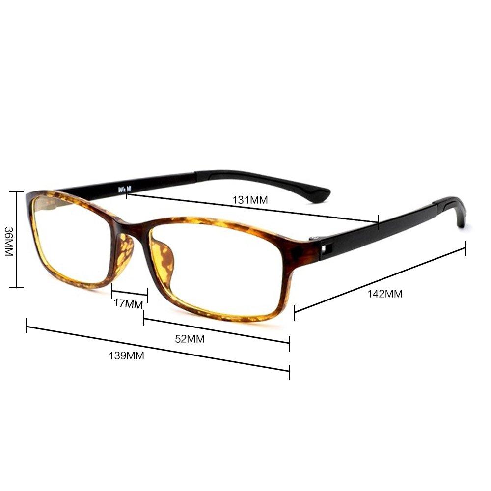 Description du produit. Descriptions lunettes rectangulaire de Forepin   Lunettes Rectangulaire Lunettes de vue pour femme et homme retro ... a31723b940e