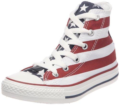 Converse Stars Bars 3J254 - Zapatillas de tela para niños Blanco