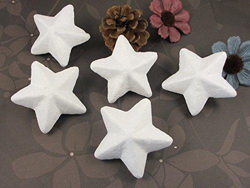 120pcs 6cm Natural White Styrofoam Stars Foam for Modeling