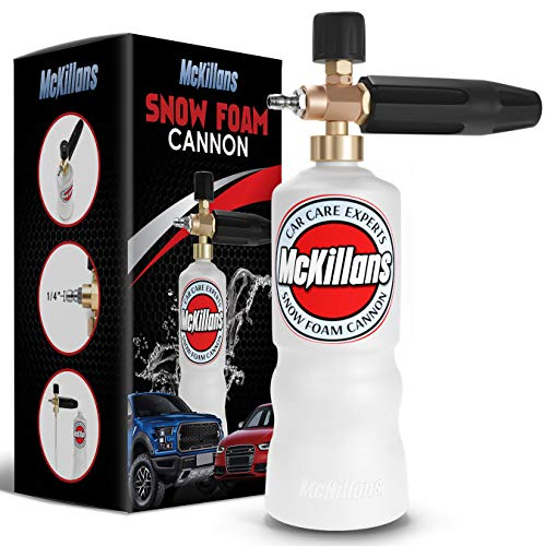 """McKillans Foam Cannon Professional Grade Adjustable Lance Pressure Washer Jet Wash with 1/4"""" Quick Connector"""