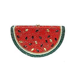 Watermelon Crystal Bag Full Diamonds Hand-Studded