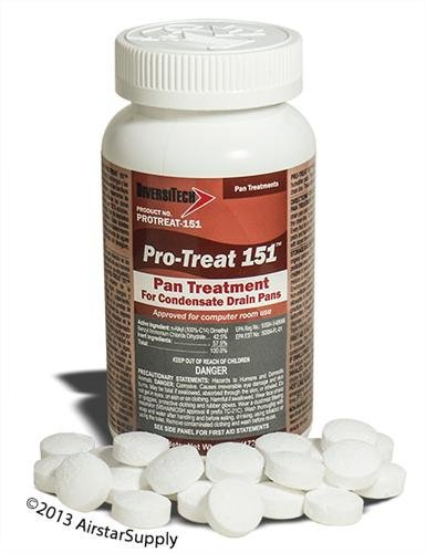 Pro-Treat® PT-151 Premium Drain Pan Treatment – 100 Tablets / Jar - Pan Tablets , EPA Registered
