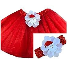 Baby Matching Santa Clause Tutu & Crochet Baby Headband Set