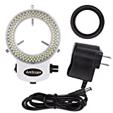 AmScope LED-144W-ZK White Adjustable 144 LED Ring Light Illuminator for Stereo Microscope & Camera