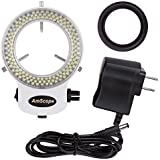 AmScope LED-144W-ZK-A White Adjustable 144 LED Ring Light Illuminator for Stereo Microscope & Camera