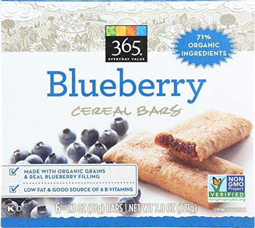 - 365 Everyday Value, Cereal Bars, Blueberry (6 - 1.3 oz bars), 7.9 oz