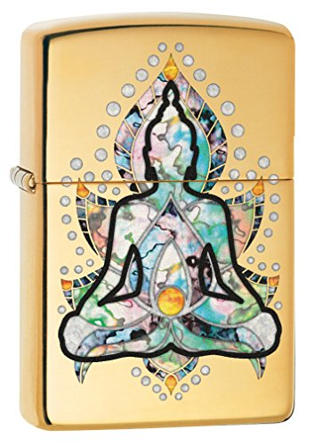 Lighter Zippo Mint - Zippo Custom Lighter: Fusion Sitting Buddha - High Polish Brass 78783