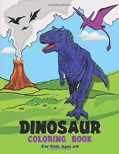 Dinosaur Coloring Book Kids Ages product image
