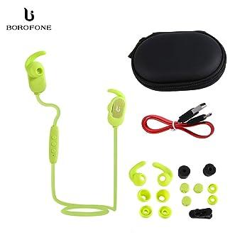 Borofone Magnetic Sport Auriculares inalámbricos para Auriculares Auriculares magnéticos Auriculares para Correr de Moda portátiles
