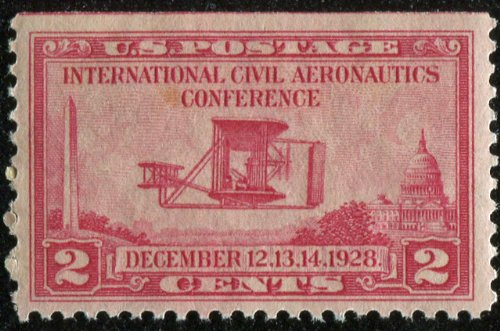 Wright Brother's Plane Stamp #0649 US Postage Stamp Issued in 1928 Wright Brothers First Powered Flight
