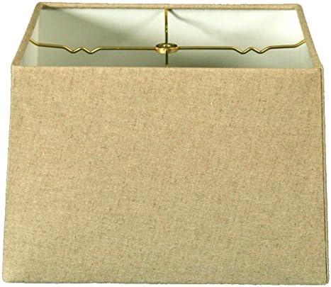 Royal Designs HB-614-16LNCR Square Hard Back Lamp Shade, Linen Cream, 15×15 x 16×16 x 10