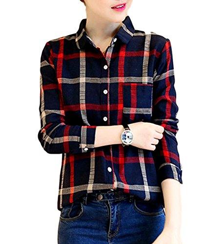 洗う心のこもった孤児(キリル) KIRIRU レディースファッション トップス シャツ レディース 長袖 チェック 格子柄 大きいサイズ カジュアル