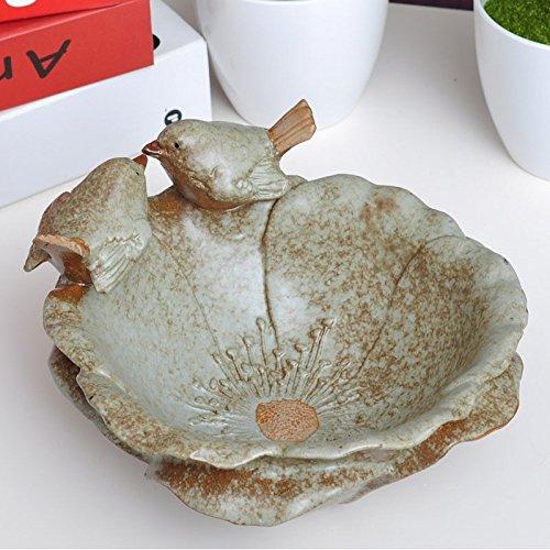 GG ländlichen im europäischen Stil Home Zubehör/Vintage Keramik Getrocknete Früchte Kompott/Snacks/Candy Auflaufform/Vogel Blumen