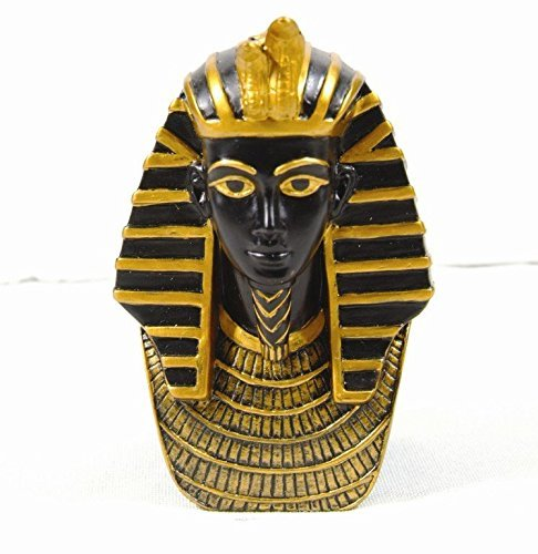 3.38 Inch Egyptian King Tut Head and Bust Resin Statue Figurine