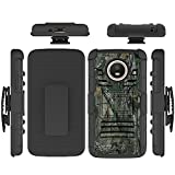 Moto E4 (4th Generation) Case, Binguowang Heavy Duty Shockproof Dual Layer Hybrid Armor Defender Full-Body Protective Case Cover with Belt Clip Holster and Kickstand For Motorola Moto E4 (Camo)