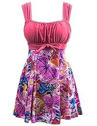 Wantdo Women's One-Piece Push Up Swimsuit Dress Swimwear Beach Suit Beachwear
