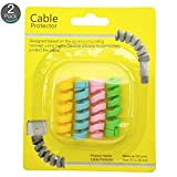 #8: Pack of 2 (8 pieces in 4 colors) Flexible Silicone Cable Protectors For All Cell Phones, Computers, and Tablets