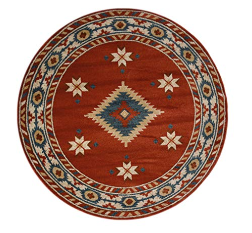 - Nevita Collection Southwestern Native American Design Area Rug Rugs Geometric (Orange (Terra), 5'3