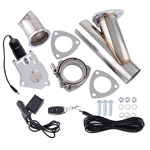 """3"""" Inch Electric Exhaust Cutout Valve Kit with Wireless Remote for Downpipe Catback System"""