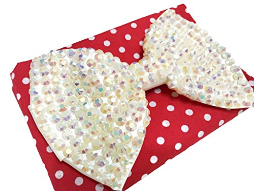 Price comparison product image MeeTHan Sequin Bow Brooch Pins Hair Clip Hat Decorations Dress Pins :SP4 (White)