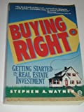 Buying Right, Stephen A. Wayner, 0452260930